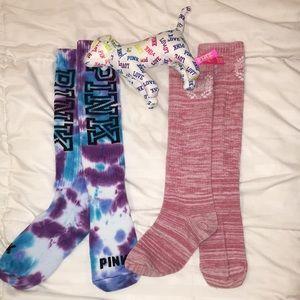vs pink high socks and dog bundle